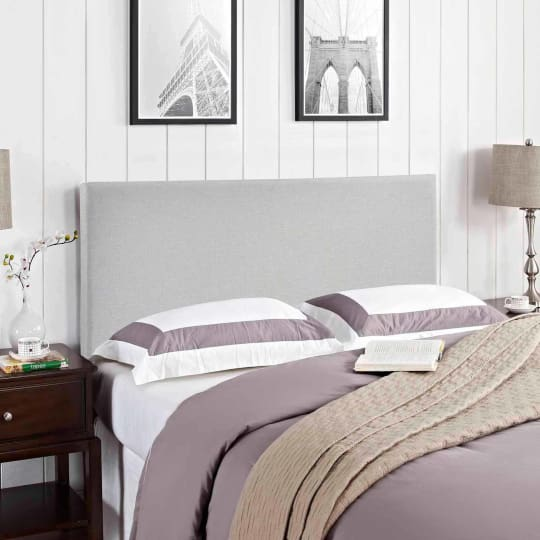 Modway Region Queen Upholstered Headboard In Gray At Walmart