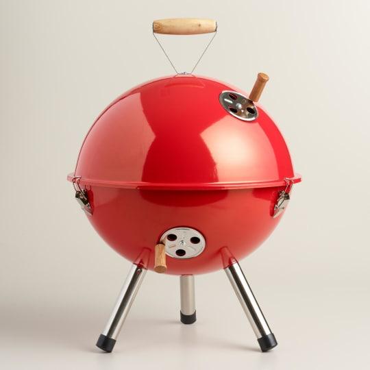 Mini Red Charcoal BBQ Grill
