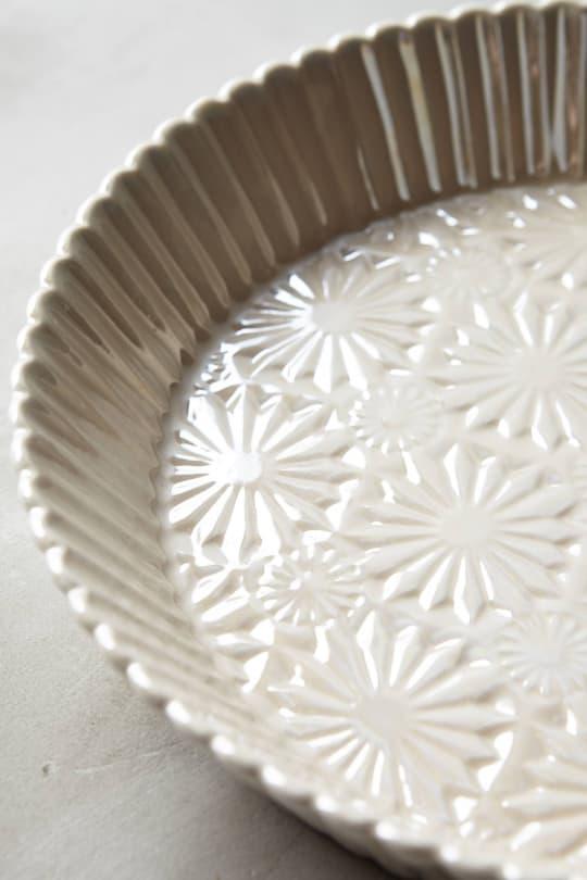 Raised Bloom Pie Pan from Anthropologie