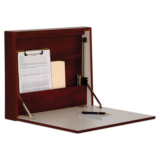 Wooden Mallet Wall Desk/Laptop Workstation, Mahogany at Amazon
