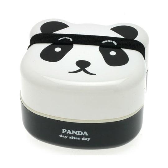 Panda Two-Tiered Kotobuki Bento Box