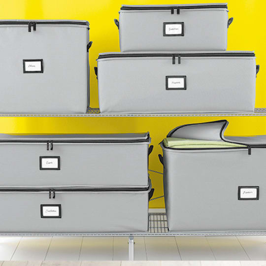 Grey Storage Bags