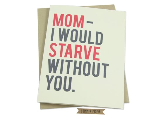 Funny Mother's Day Card from Grimm and Proper