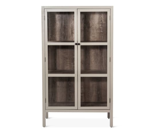 Vista Library Cabinet with Glass