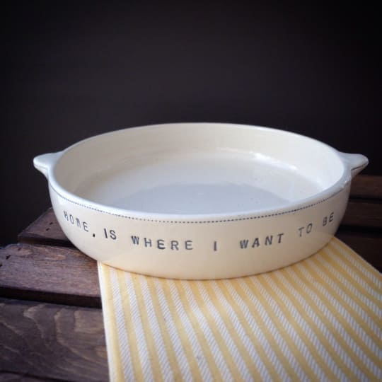 Printed Pie Dish from Tania Julian Ceramics