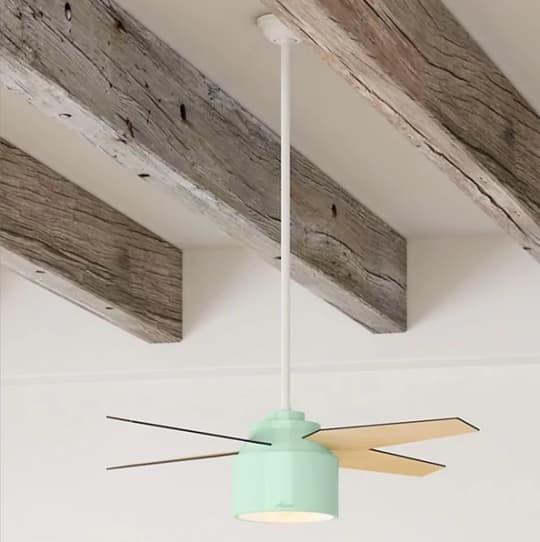 "Hunter Contemporary Cranbrook Mint Ceiling Fan, 52"""