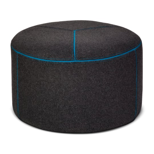 Round Pouf in Gray/Blue at Target