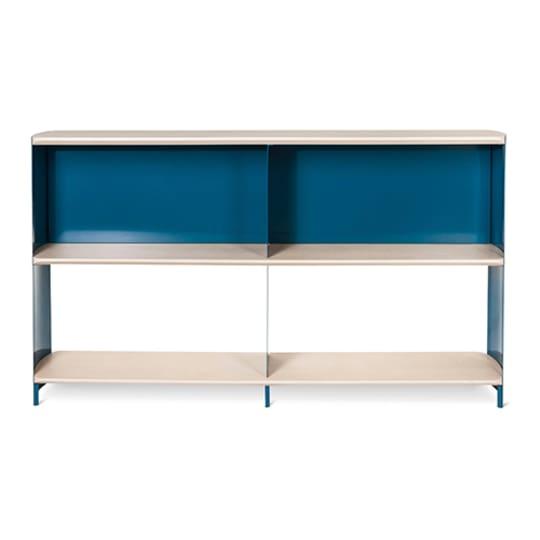 Modern by Dwell Magazine Bookshelf Wide Blue-Natural at Target