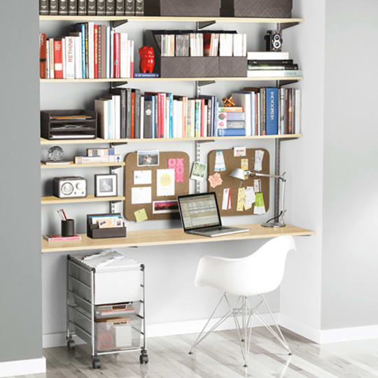 Sand & Platinum elf Home Office Shelving at The Container Store