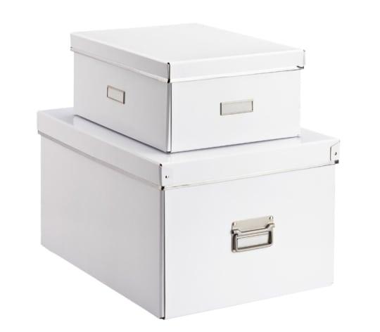 White Bigso Storage Boxes