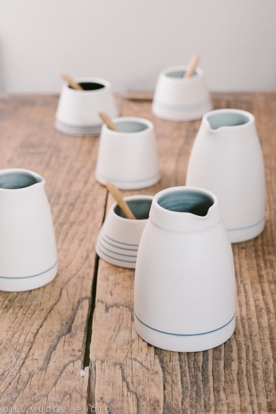 Small Porcelain Jug from By the Line Pottery
