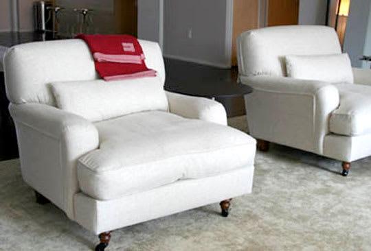 Raffles Linen Armchair by Vico Magistretti