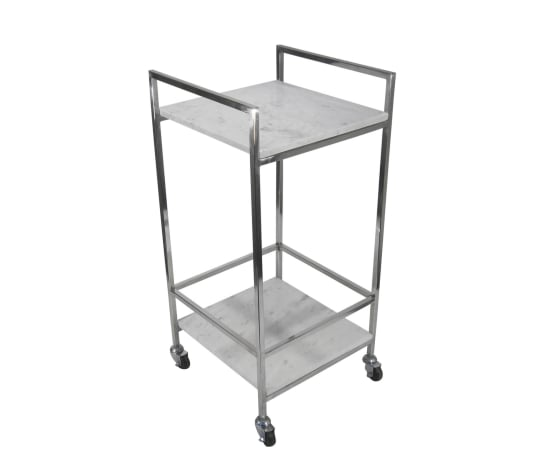 Marble and Chrome Bar Cart