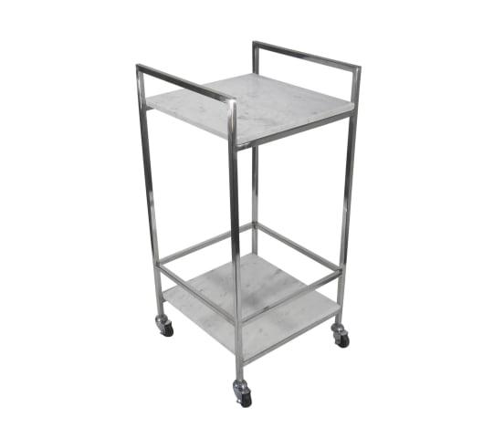 Marble and Chrome Bar Cart