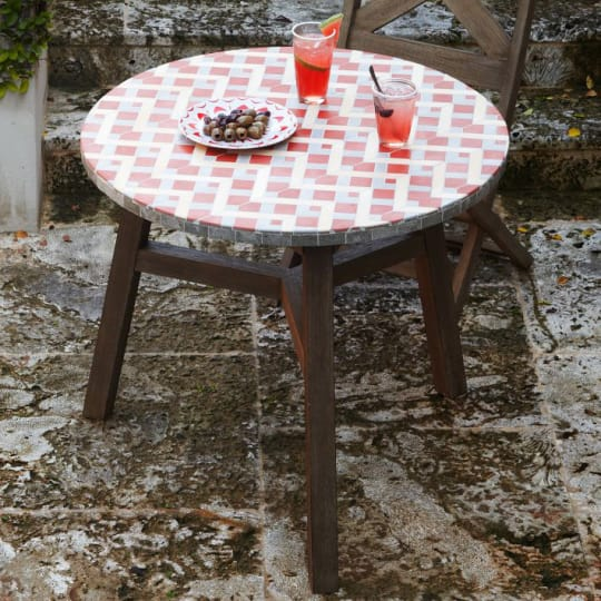 Mosaic Tiled Bistro Table from West Elm