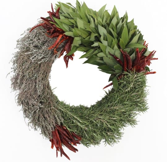 Fresh 3-Herb Wreath from McFadden Farm