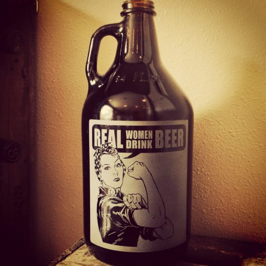 Rosie the Riveter Growler from Vital Sign and Apparel