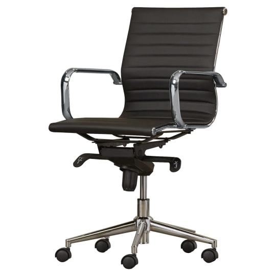 Cruz Mid-Back Leather Desk Chair