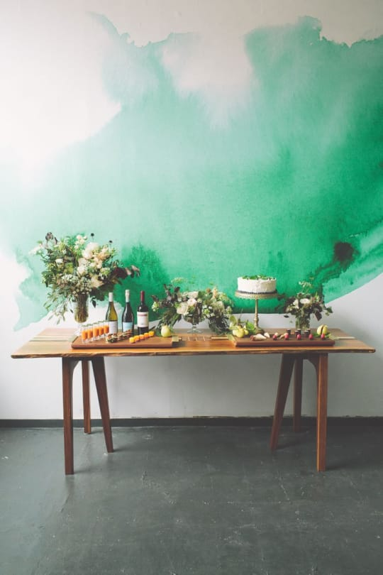 Watercolor Wall Mural from Anewall Decor