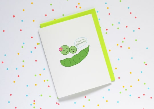 Mother's Day Edamame Card from Queenie's Cards