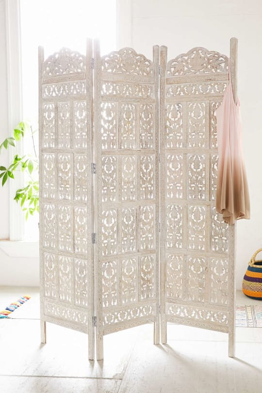 Amber Wooden Carved Screen at Urban Outfitters
