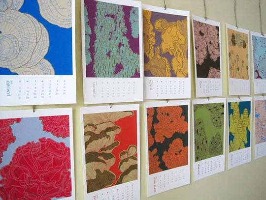 2013 Mushroom Calendar by Sofia Whiddon