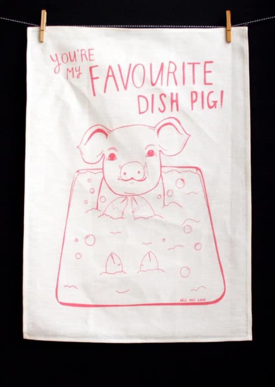 You're My Favorite Dish Pig Tea Towel from Able & Game