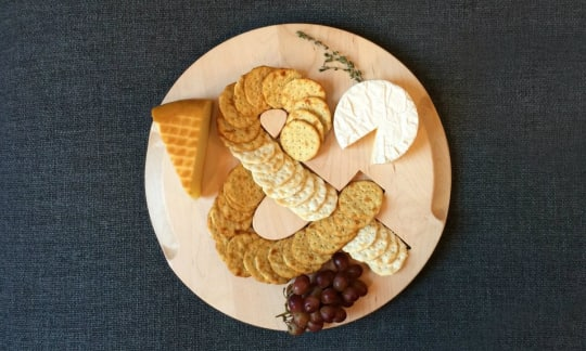 Monogrammed Serving Board from Ann Street Home