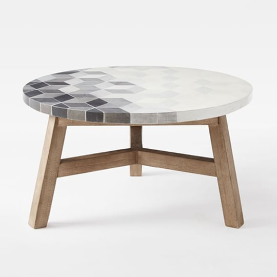 Mosaic Tiled Coffee Table at West Elm