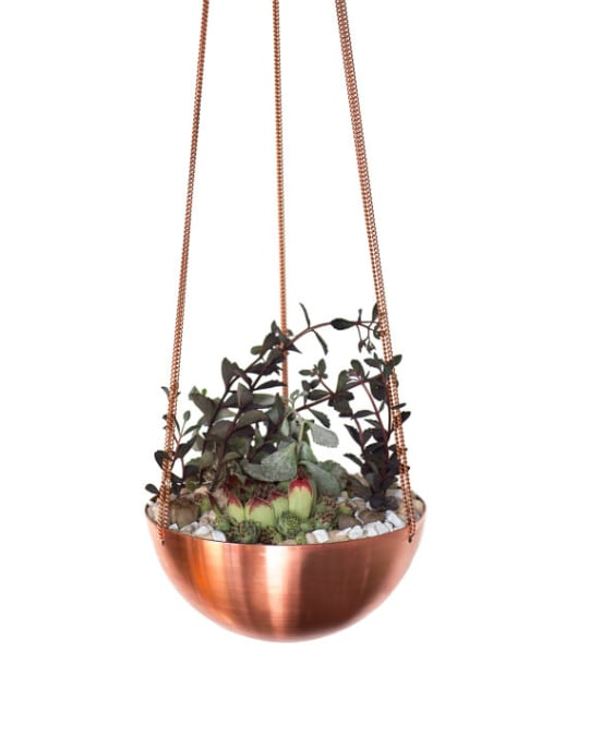 Large Hanging Copper Planter INSEKDESIGN