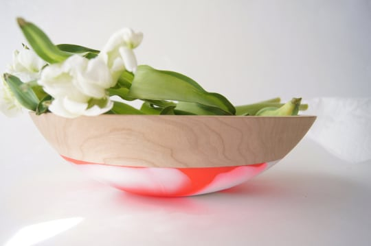 Neon Salad Bowl by Wind & Willow Home