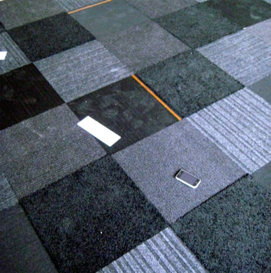Mixed Black Flor Tile (in our office)