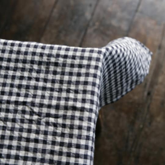 Gingham Linen Table Cloth by Fog Linen