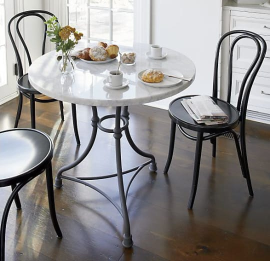 French Kitchen Round Bistro Table at Crate & Barrel