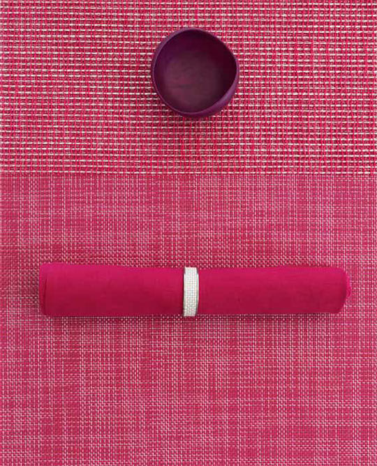 Basketweave Placemats in Berry from Chilewich