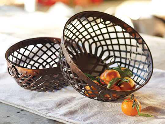 Woven Iron Baskets from NapaStyle