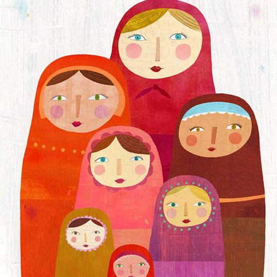 Matryoshka Dolls Print by Melanie Mikecz