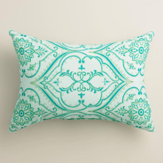Pacifica Floral Outdoor Lumbar Pillow