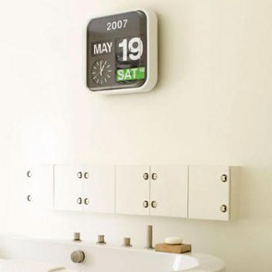 Big Calendar Flip Clock Apartment Therapy