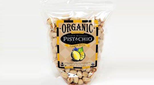 Lemon Zing Organic In-Shell Pistachios from Santa Barbara Pistachios