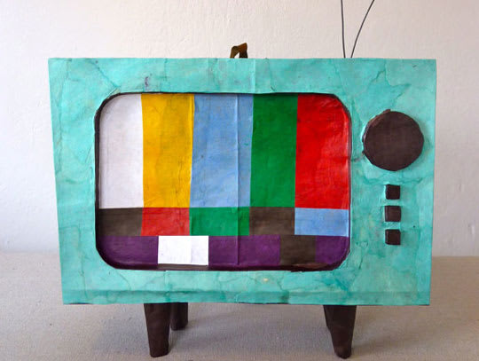 Vintage TV Piñata from The Piñata Maker