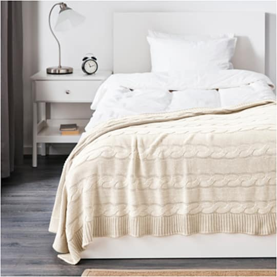 URSULA Throw in Bleached White at IKEA
