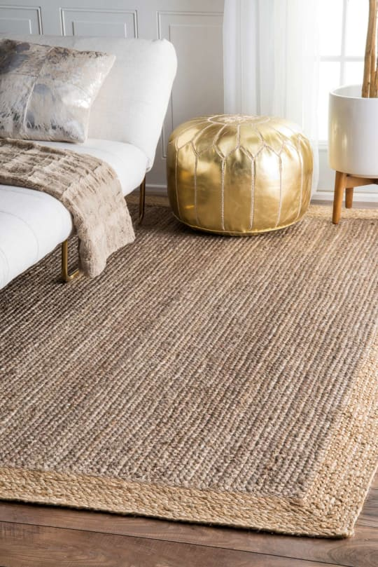 Maui Jute Simple Border Rug