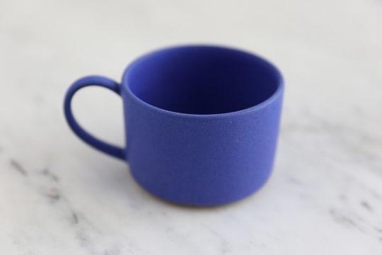 Blue Ceramic Mug by Dina No