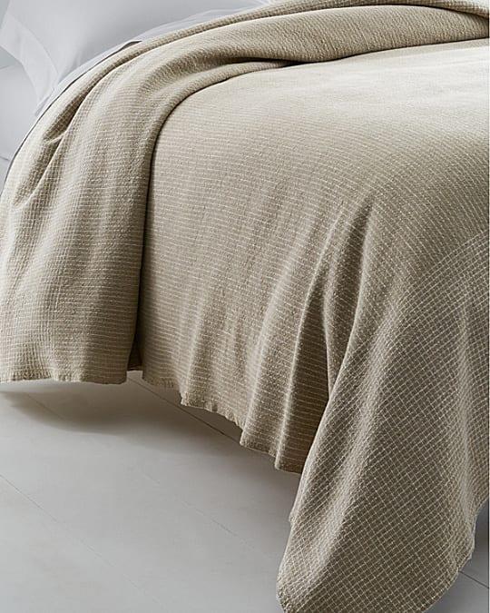 Eileen Fisher Linen & Cotton Check Throw at Garnet Hill