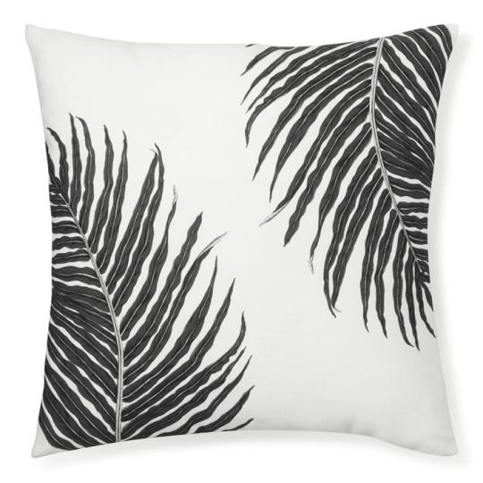 Outdoor Printed Fern Pillow