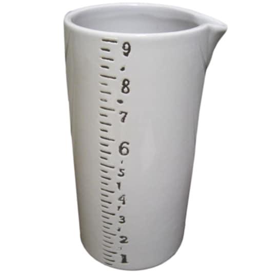 Large Ruled Ceramic Vase