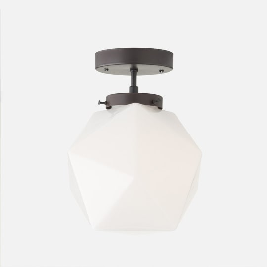 Fuller Fixture in White Glass