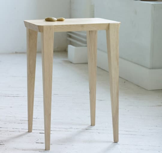 Salvaged Ash Side Table by Andrew Moe