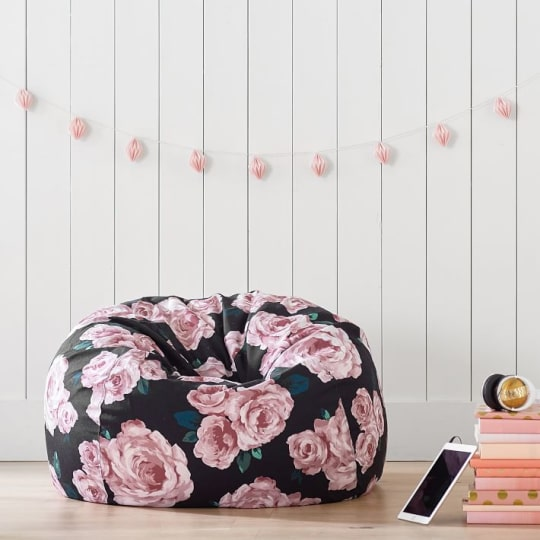 The Emily & Meritt Bed of Roses Beanbag at PB Teen